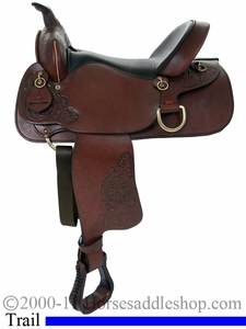 "15"" 16"" American Saddlery Deluxe Enduro Trail Saddle 1383 1384"