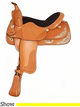 "15"" 16"" American Saddlery Texas Best Spotted Show Saddle 1360"