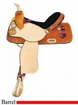 "15"" 16"" American Saddlery Zebra/Jaguar Heart Racer Barrel Racing Saddle am892"