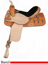 "15"" 16"" American Saddlery Zebra/Jaguar Sunrise Cross Barrel Racing Saddle am890"