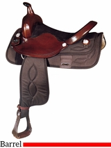 "** SALE ** 15"" 16"" Big Horn Synthetic Barrel Saddle 282 281"