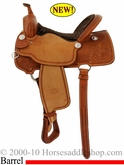 "15"" 16"" Billy Cook Barrel Racing Saddle #10-1550"