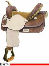 "** SALE ** 15"" 16"" Billy Cook Flex Feather Barrel Saddle 291251"