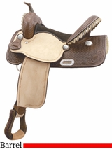 "** SALE ** 15"" 16"" Billy Cook Flex Flyer Barrel Saddle 291260"