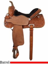 "** SALE ** 14"" to 16"" Billy Cook Half Breed Barrel Saddle 2010"