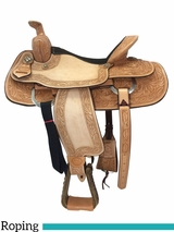 """15"""" 16"""" Billy Cook Texas Hold Em Roping Saddle 291784"""