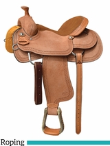 "15"" 16"" Courts Saddlery Roping Saddle 1552W"