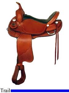 "NO LONGER AVAILABLE 15"" 16"" Crates Lightweight Trail Saddle 2175"