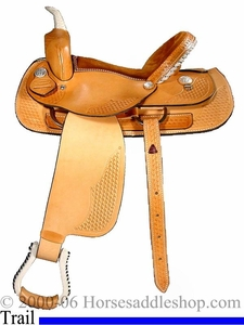 "15"", 16"" Dakota Saddlery Light Oil Trail Saddle 350"