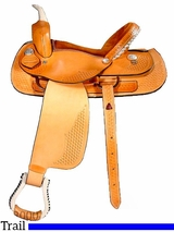 "** SALE ** 15"" 16"" Dakota Light Oil Trail Saddle 350"