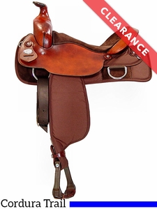 "SOLD 2017/02/22 16"" Fabtron Trail Saddle Full Quarter Horse Bars 7110 CLEARANCE"