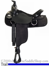 "15"" 16"" FQHB Fabtron Black Synthetic Saddle 7109 7111"