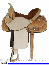 "15"" 16"" Dakota Light Oil Pleasure Trail Saddle 355"