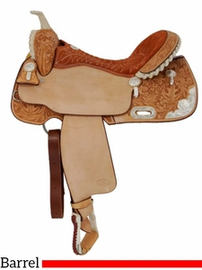 """** SALE ** 14"""" to 16"""" Billy Cook Silver Show Barrel Saddle 2001"""