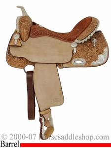 "15"", 16"" Billy Cook Silver Show Barrel Saddle 2001"