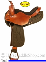 "16"", 17"" Haflinger or Extra Wide Flat Backed Horse Trail Saddle by Big Horn 291-292"