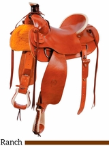 """** SALE ** 15"""" to 17"""" The Plain Prairie Comfort Ranch Saddle by Colorado Saddlery 0-4"""