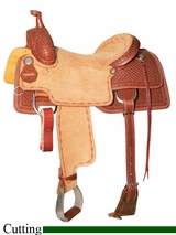 "15.5"" to 17"" Reinsman Cowhorse Saddle 4820"