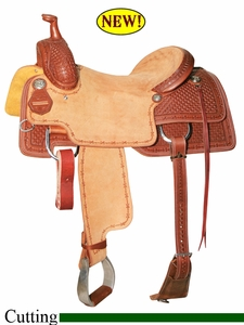 "15.5"" 16"" 16.5"" 17"" Reinsman Cowhorse Saddle, Reg or Wide Tree 4820"