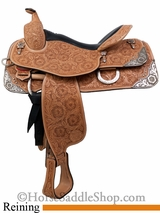 "15.5"" 16"" 17"" Silver Mesa Elite Show Reiner Saddle me1004 *FREE SADDLE PAD OR CASH DISCOUNT!*"