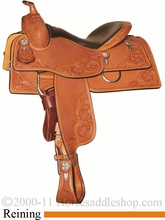 """15.5"""" 16"""" 17"""" Silver Mesa Traditions Show Reiner Saddle SM2004 *FREE SADDLE PAD OR CASH DISCOUNT!*"""