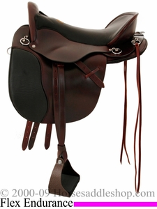 "15.5"" to 18.5"" Tucker Gen II Flex Bar Equitation Endurance Trail Saddle 147 *free gift*"
