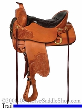 "** SALE **15.5"" to 18.5"" High Plains Tucker Trail Saddle 260 *free gift*"