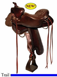 "** SALE **15.5"" to 18.5"" Tucker Bear Trap Trail Saddle 294 *free gift*"