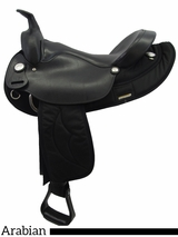 "** SALE ** 15.5"" 16.5"" Big Horn Synthetic Arabian Saddle 115 116 283"