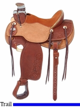"""** SALE ** 15.5"""" to 16.5"""" Silver Royal Wade Padded Working Saddle 901"""