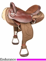 "15.5"" 16.5"" Tennessean� Cordura Nylon/Leather Endurance Saddle 2936"