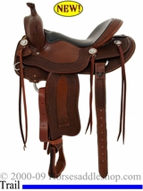 "15.5"", 16"" Billy Cook Tipton Trail Saddle 1737"