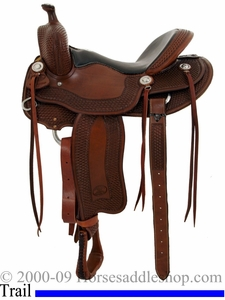 "15.5"" 16"" Billy Cook Tipton Trail Saddle 1737"