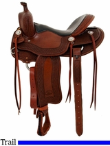 "** SALE ** 15.5"" to 17"" Billy Cook Tipton Trail Saddle 1737"
