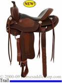 "15.5"", 16"" Billy Cook Tipton Trail Saddle USA Made 10-1737"