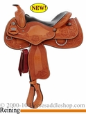 "15.5"" 16"" Crates Hand Tooled Ladies Reining Saddle 4517 Wide or Med Tree"