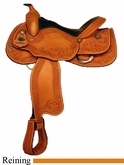 "15.5"" 16"" Crates Hand Tooled Ladies Reining Saddle 4517"