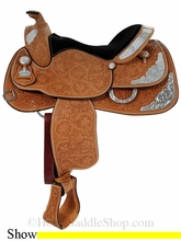 "15.5"", 16"" Crates Ultra Lite Supreme Show Saddle 2345"