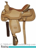 "15.5"" 16"" Genuine Billy Cook Arena Roping Saddle 10-2144"