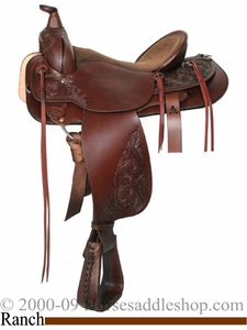 "DISCONTINUED 16"" High Horse Rockwall Ranch Saddle by Circle Y FQHB 6610"