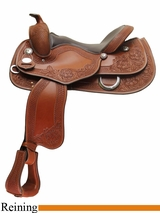 """NO LONGER AVAILABLE 15.5"""" 16"""" Supreme Reining Saddle by Crates 4557"""