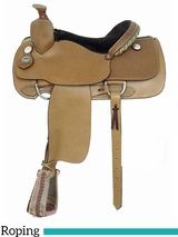 "15.5"" American Saddlery MasterCraft Professional Roper Saddle 110"