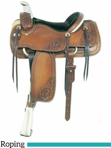 "15.5"" American Saddlery MasterCraft Running W Pro Roper Saddle 110-1"