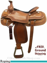 "PRICE REDUCED! 15.5"" Circle Y Cody 2772 Roping Saddle, Wide Tree, Floor Model uscy3035 *Free Shipping*"