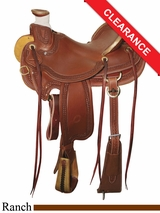 "15.5"" Circle Y Elko Ranch Saddle 1343"