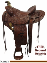 "15.5"" Circle Y John Wayne 1000 Ranch Saddle uscy3270 LAST ONE!"