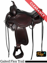 "SOLD 2016/12/01  15.5"" Circle Y Julie Goodnight Blue Ridge Flex2 Gaited Trail Saddle 1751 CLEARANCE"