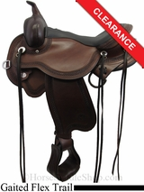 "15.5"" Circle Y Julie Goodnight Blue Ridge Flex2 Gaited Wide Trail Saddle 1751"