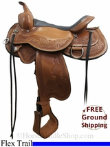 "15.5"" Circle Y Julie Goodnight Monarch 1752 Flex2 Trail Saddle, Exclusive uscy3104 *Free Shipping*"
