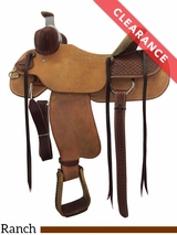 "15.5"" Circle Y Kenedy Wide Ranch Saddle 1112 CLEARANCE"